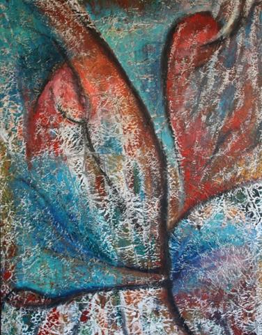 peinture-cecile-girard-entrelacs-I